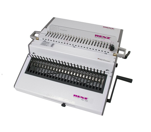RENZ DTP340-PBS Heavy Duty Plastic comb binding machine